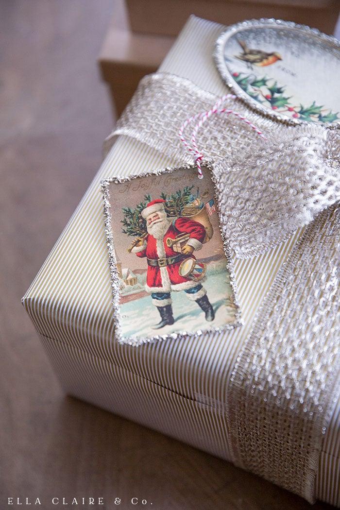 Free printable Santa gift tag