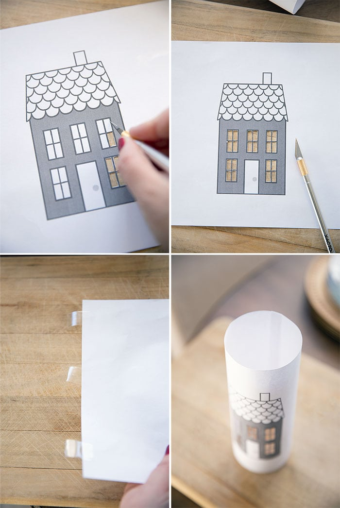 step by step how to make free printable luminary