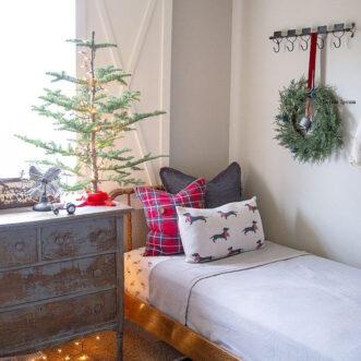 Farmhouse Christmas little boys room ideas