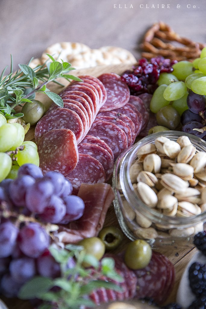 Easy steps to make a beautiful charcuterie board for any season. They are so quick to throw together and are great for entertaining and even for light dinners. You can customize them for holidays, personal diet preferences, and even for what you have on hand.
