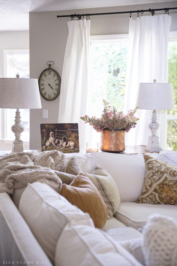 fall pillows fluffed