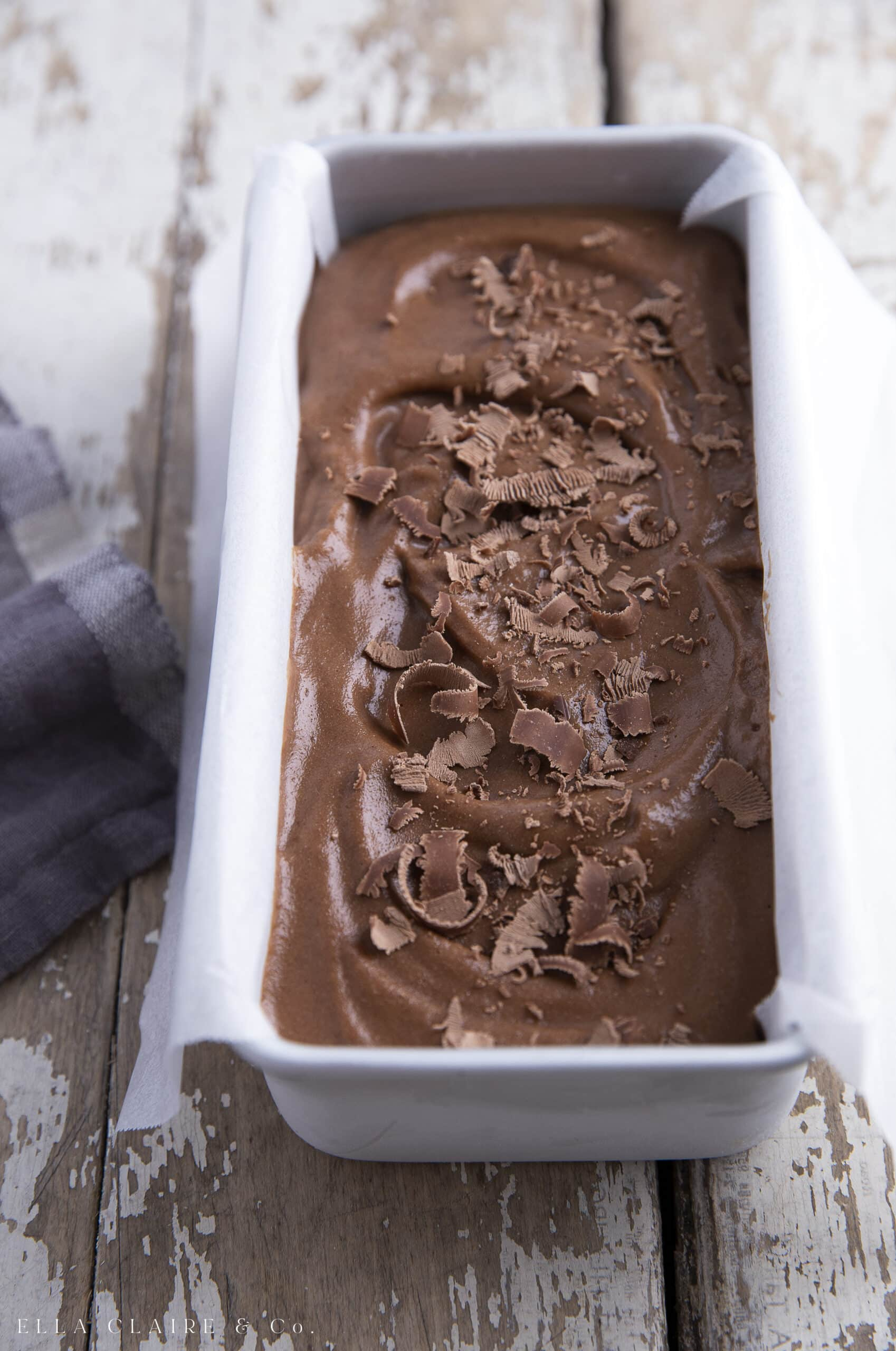 chocolate ice cream made with bananas