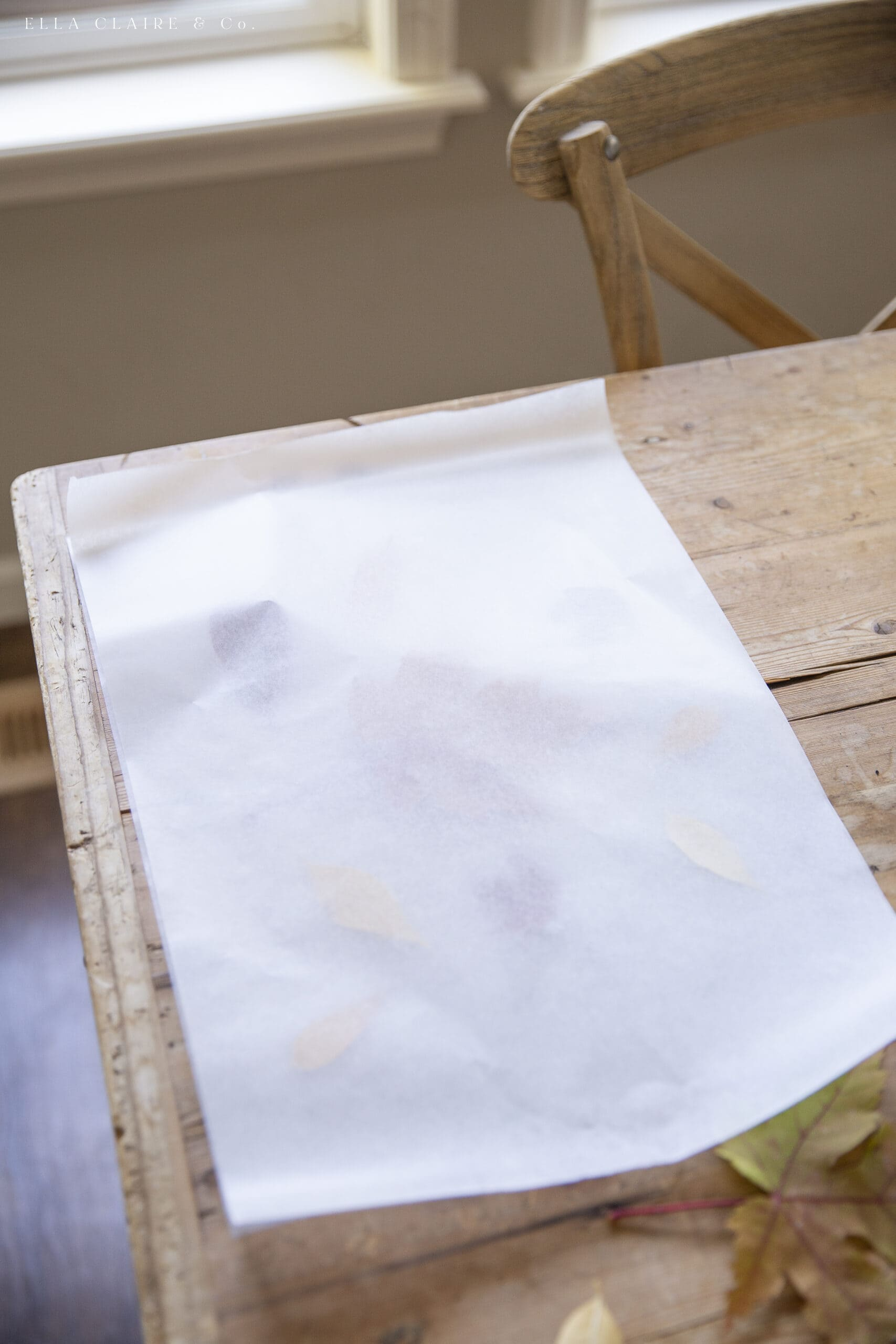 wax paper for pressing leaves