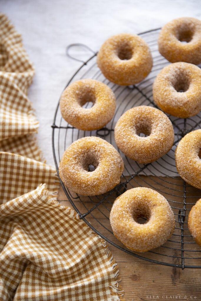 Best Pumpkin Doughnuts with Cinnamon Sugar
