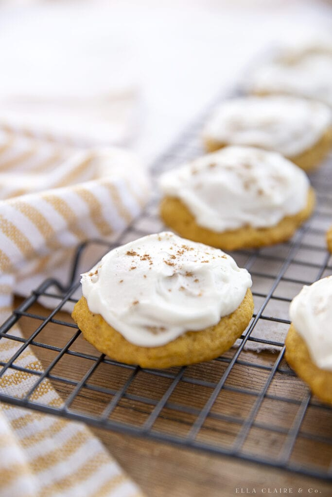 Best Pumpkin Cookies with Cream Cheese Frosting
