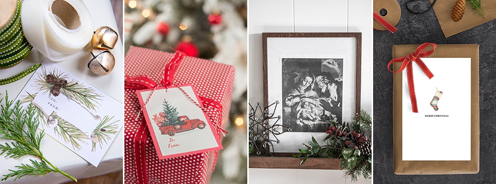 free christmas printable tags, art, and more