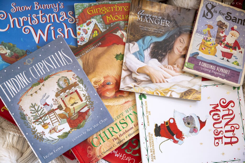 pile of best Christmas books for kids