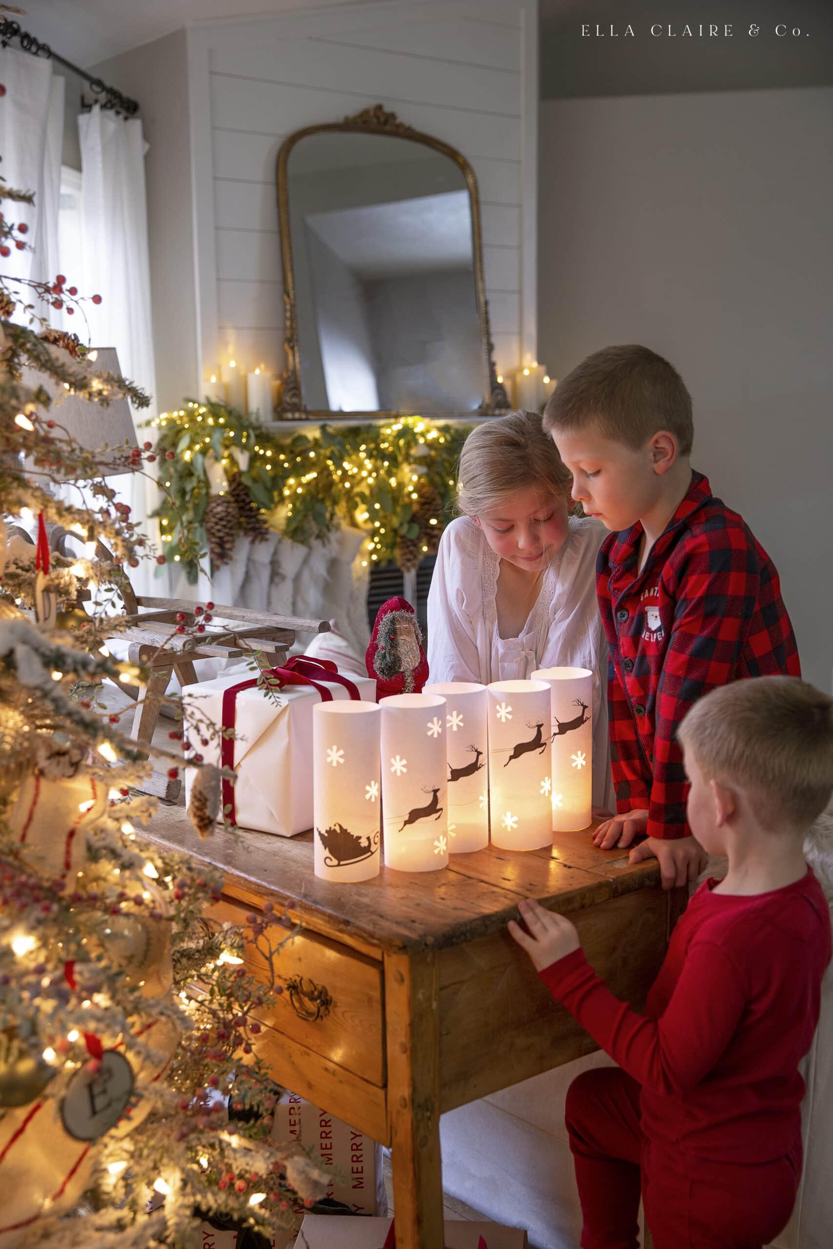 free printable christmas lanterns