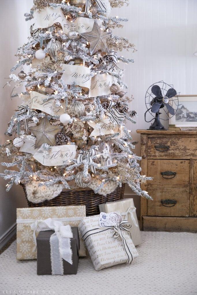 Gold Christmas Tree- Elegant Vintage Neutrals