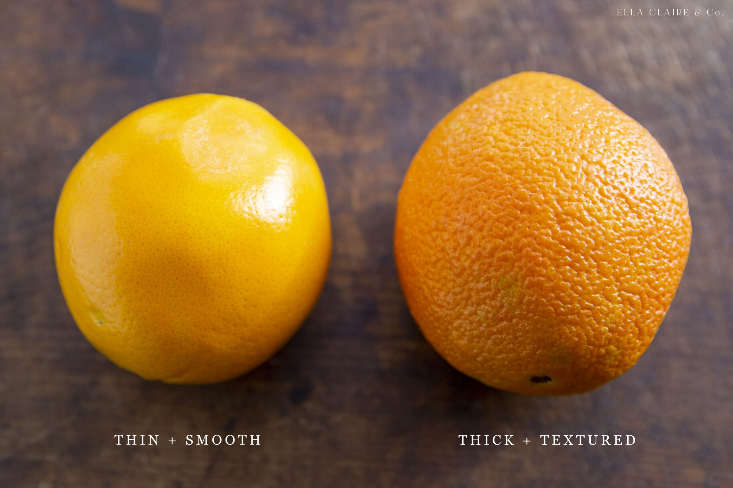 thin skin and thick skinned oranges
