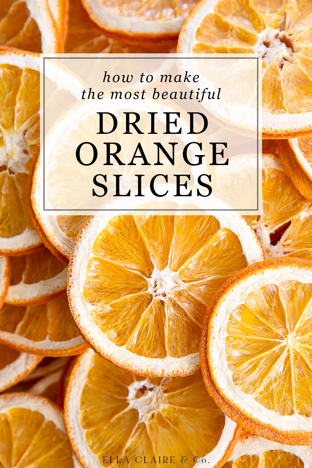 How to make dried orange slices in dehydrator or oven title cover