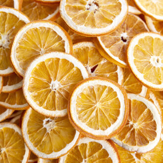 beautiful dehydrated oranges in slices