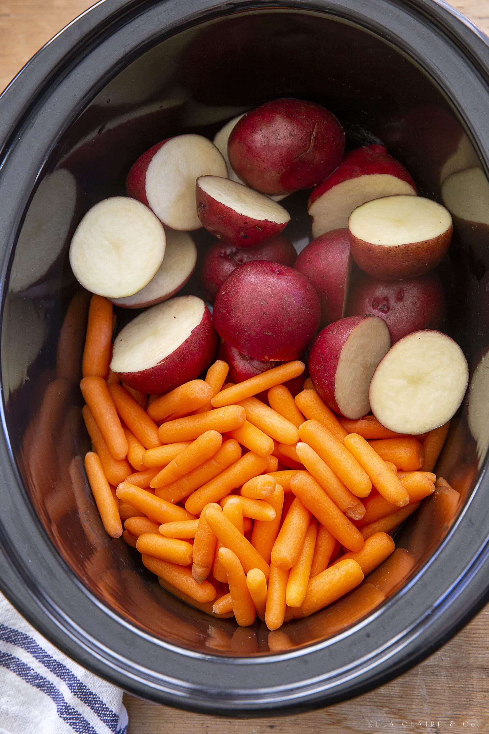 potatoes and carrots in the crockpot