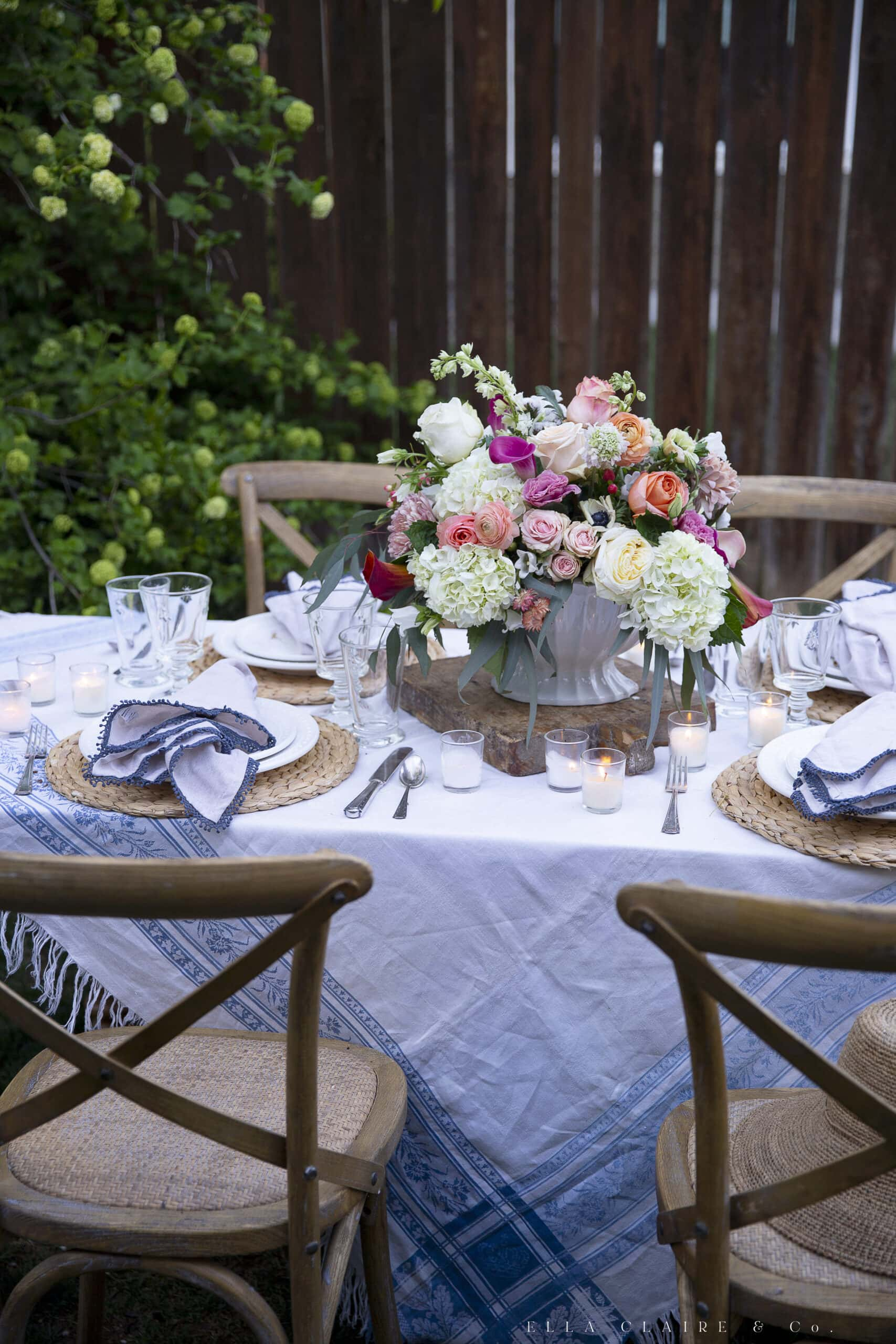 table settings for beautiful spring outdoor entertaining