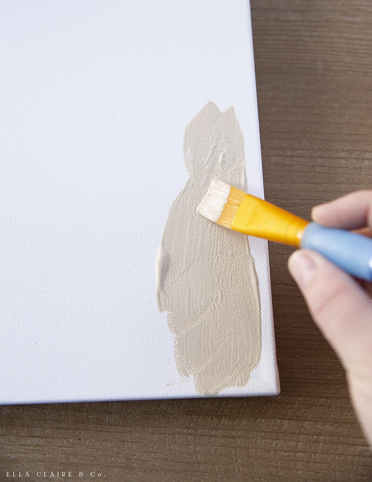 painting the edges of a canvas